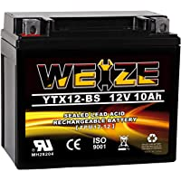 $32 » Weize YTX12-BS Motorcycle Battery High Performance - Maintenance Free - Sealed YTX12…