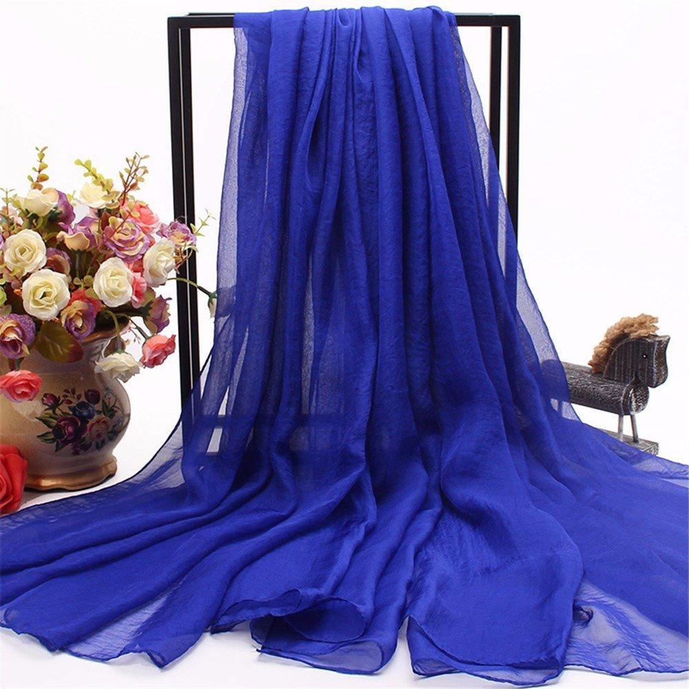 HXVU56546 Le Printemps Et L'Automne Mesdames Nouvelle Longue Écharpe Foulard Foulard Multifonction Couleur150 X 170Cm Bleu