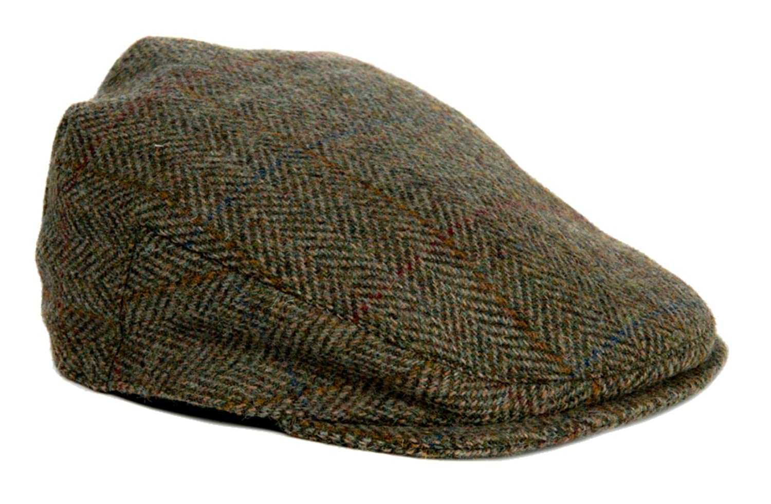 Maccessori Verde Herringbone Harris Tweed Country Gorra Plana ...