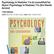 Amazon Com Psychology In Modules 11e Launchpad For Myers