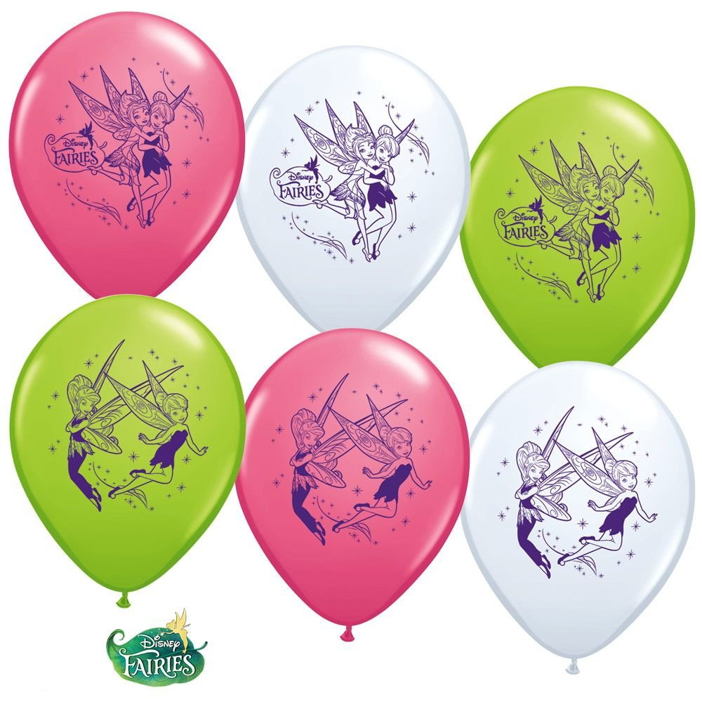 Tinkerbell 1234; Latex Balloons (6 Pack) - Party Supplies