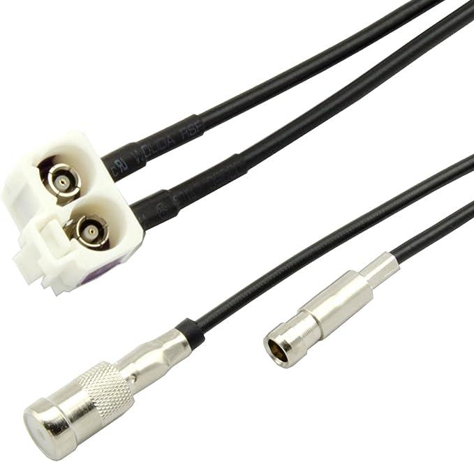 Adaptador de Antena para Audi RNS-E Diversity Splitter Fakra A2 A3 A4 A6 A8 TT Auto Radio
