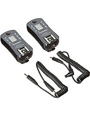 Yongnuo RF605C, Kit de 2 disparadores inalámbricos para cámaras Canon (2.4 GHz, 100 m, AAA), color negro