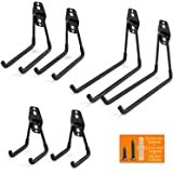 Ihomepark Heavy Duty Garage Storage Utility Hooks for Ladders & Tools, Wall Mount Garage Hanger
