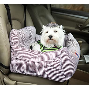 Dog Car Seat Pet Booster Seat Pet Travel Safety Car Seat Dog Bed for Car with Storage Pocket