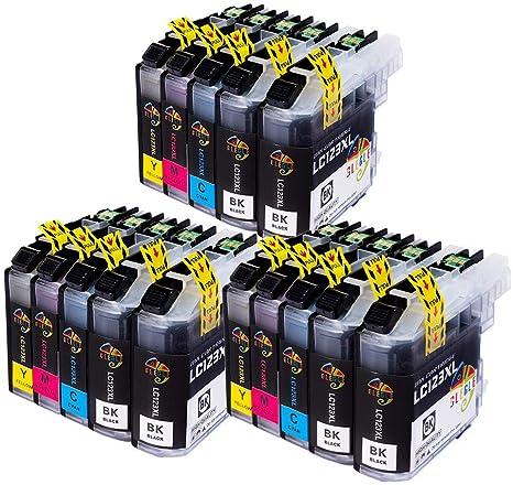 GLEGLE LC123XL Cartuchos Tinta Brother 15 Multipack Reemplazo para ...
