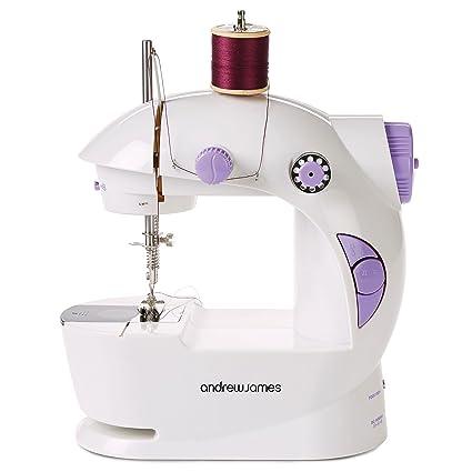 Máquina de coser compacta Andrew James con luz inteligente, incluye juego de costura 100 piezas