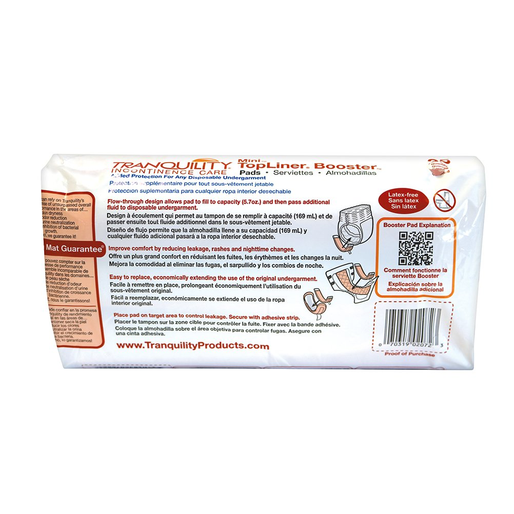 Tranquility TopLiner® Disposable Booster Pads - Mini (10.5'' x 2.75'') - 400 ct by Tranquility (Image #3)