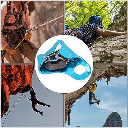 Alomejor Ascender la Escalada Ascender Subir la Cuerda Ascendente Ascender Peak Gear Cuerda Ascender para Cuerda de Escalada 8-13mm