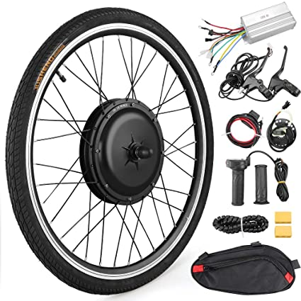 48V 1000W Electric Bicycle Powerful Hub Motor Kit with Intelligent Controller and PAS System Anbull 26 Front Wheel E-Bike Conversion Kit