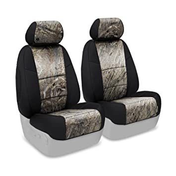 b8df4429b3c8f Amazon.com: Coverking Custom Fit Front 50/50 Bucket Seat Cover for Select  Toyota Tacoma Models - Neosupreme (Mossy Oak Duck Blind Camo with Black  Sides): ...