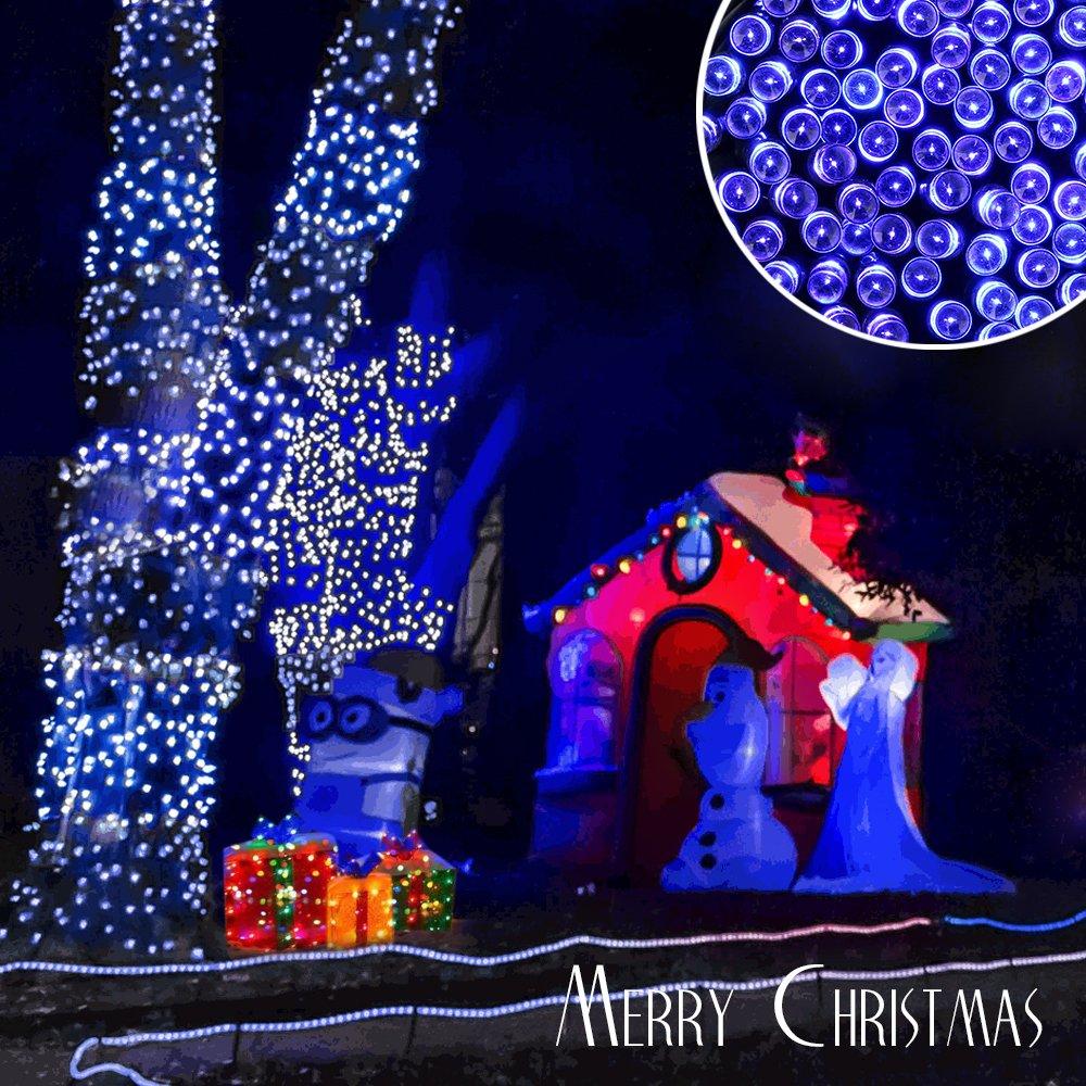 Qedertek 200 LED Solar Christmas Lights, 72ft Fairy String Lights ...
