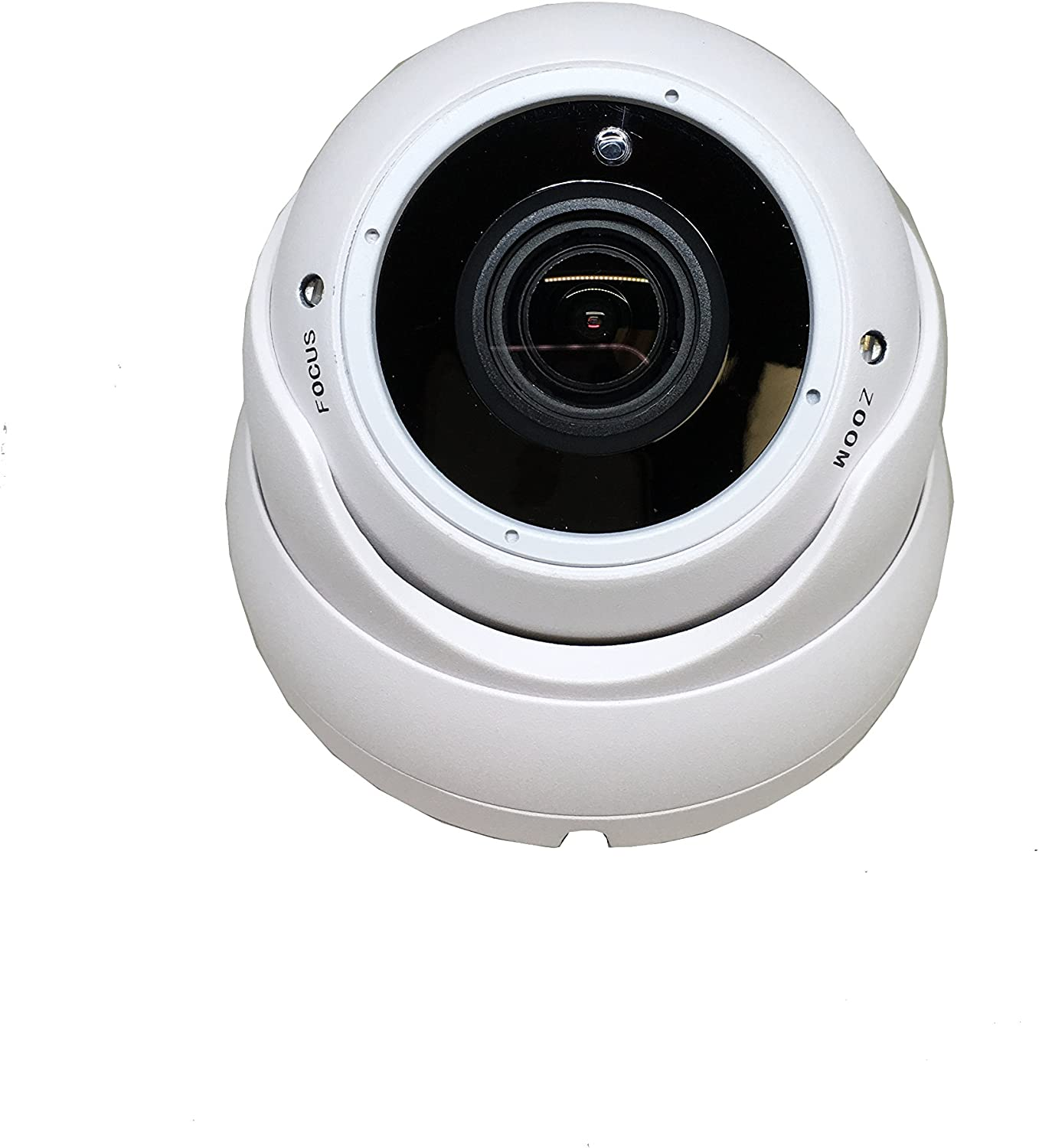 (2 Pack) 101AV Security Dome Camera 1080P True Full-HD 4 IN 1(TVI, AHD, CVI, CVBS) 2.8-12mm Variable Focus Lens SONY 2.4Megapixel STARVIS Image Sensor IR In/Outdoor WDR OSD Camera (White) 713XQEfyjWL