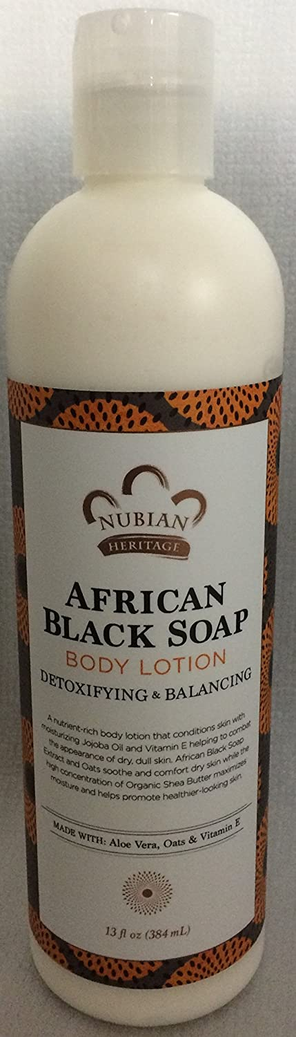 African Black Soap, Lotion Body Wash Set.. by Nubian Heritage 4 Pack … iwgl