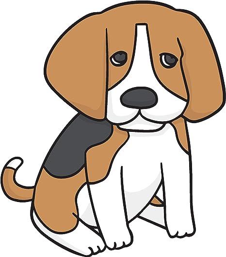 Amazon Com Cute Adorable Cuddly Beagle Puppy Dog Cartoon Vinyl