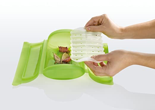 Lekue Steam Case with Tray for 1 to 2 Person, Green