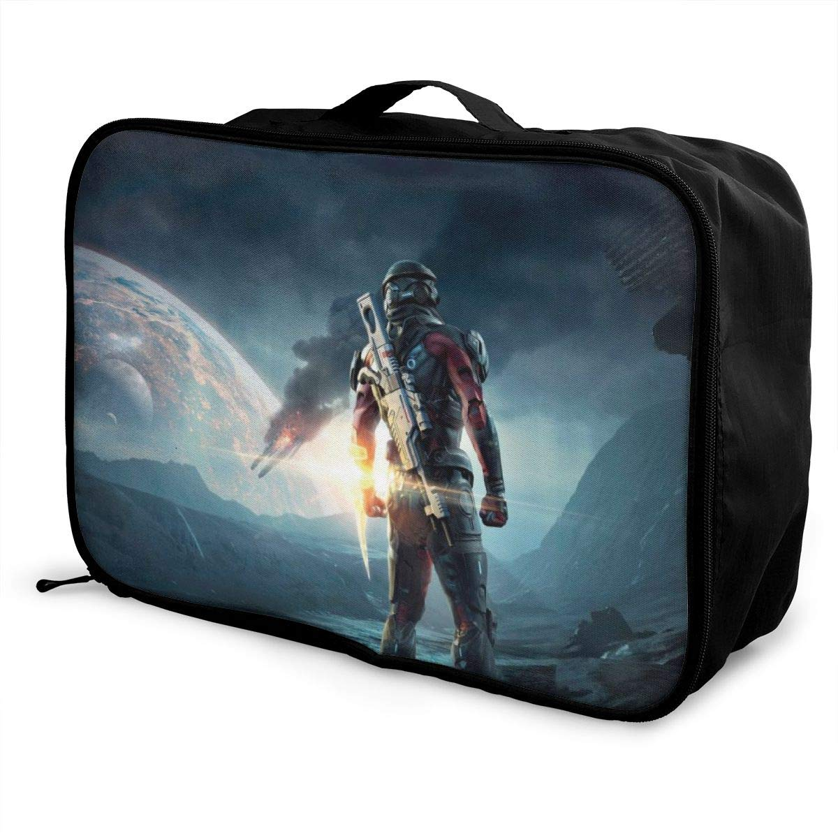 One N7 Warriors Background Customize Casual Portable Travel Bag Suitcase Storage Bag Luggage Packing Tote Bag Trolley Bag