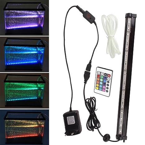 SPEED Burbujas de led 18CM Iluminación Del Acuario Burbujas LED Haz Luminoso Luz Lámpara LED Luz