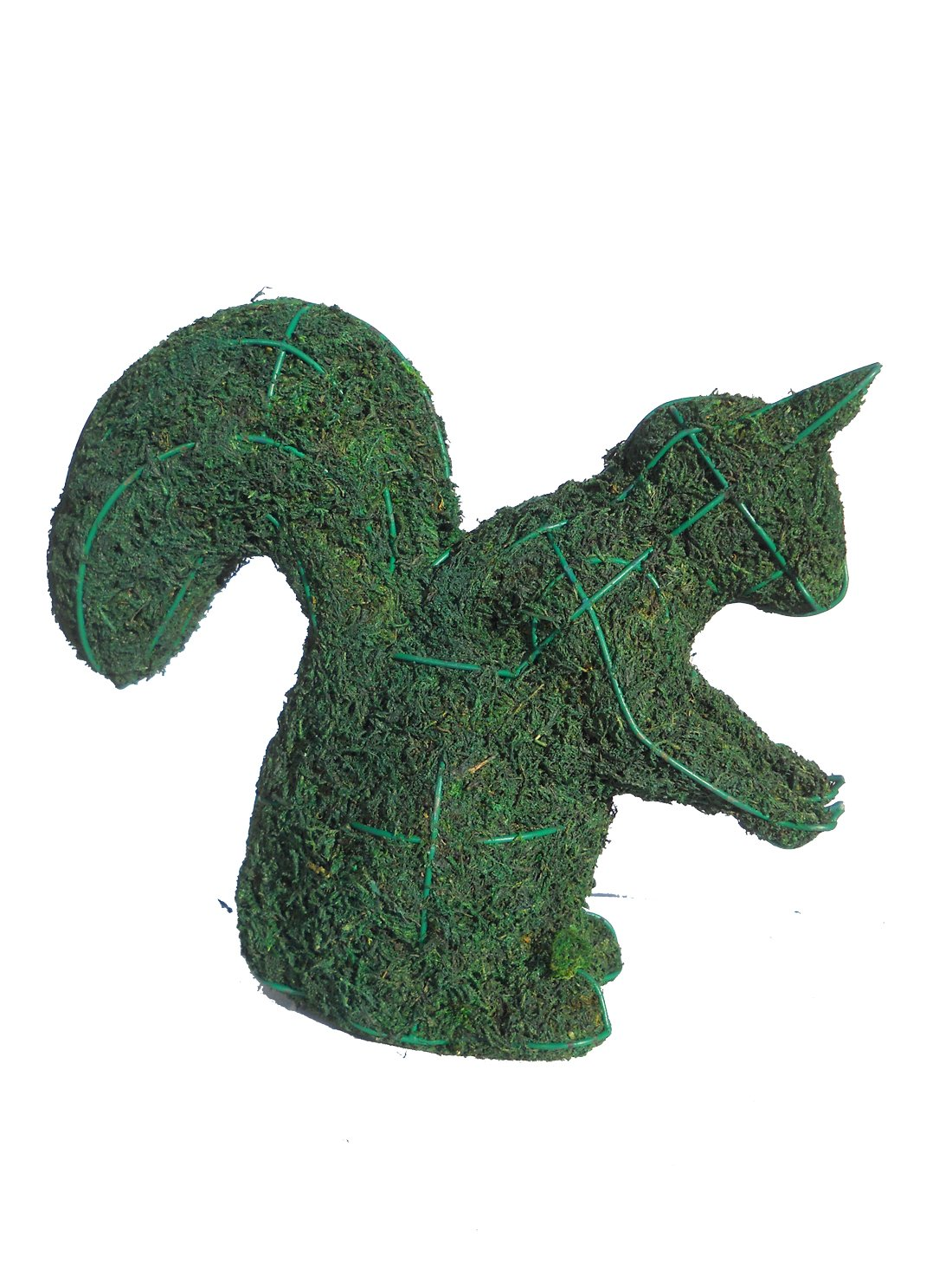 Squirrel 8 Inches High Moss Topiary Frame, Handmade Animal Decoration