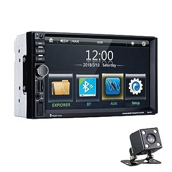 "Excelvan Reproductor MP5 7021G para Coche, 7"" Pantalla Táctil Digital Autoradio Bluetooth GPS Navegación"