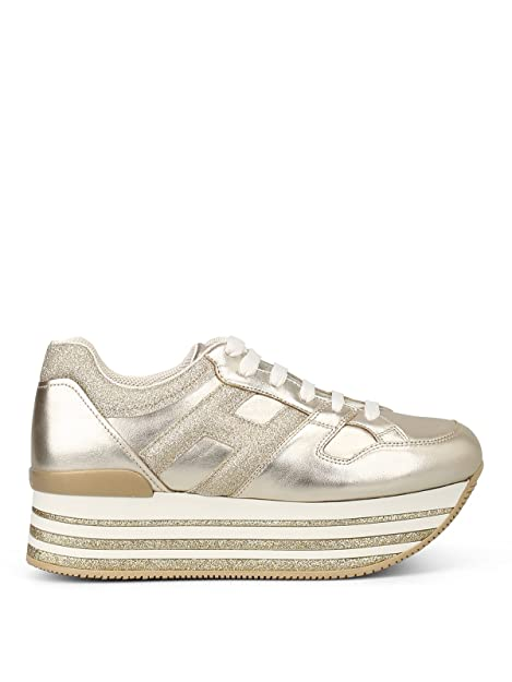 Hogan Sneaker Donna Oro Gold IT - Marke Größe 0a7df730ee5