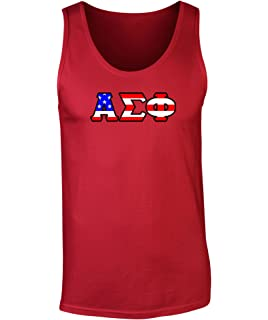 alpha sigma phi american flag tank top by fashion greek