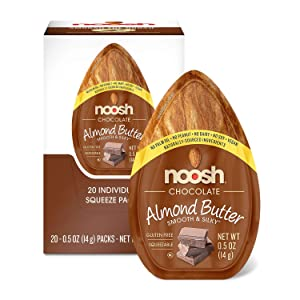 NOOSH Chocolate Almond Butter Packets (20 count) - Naturally Sourced Ingredients, Vegan, Gluten Free, Non GMO, Kosher, Peanut Free, Soy Free, Dairy Free, No Palm Oil