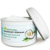 Coconut Oil Body Butter for Stretchmarks & Scars - Natural Skin Care for Women &...