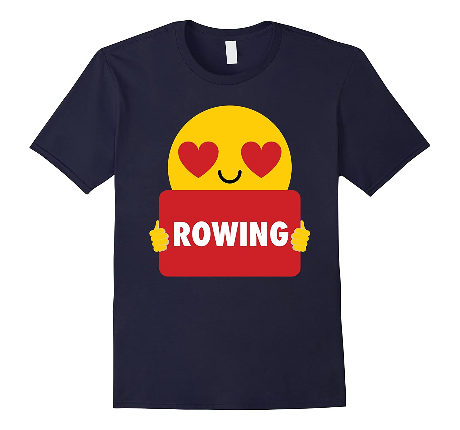 Rowing Shirt Heart Eye Emoji T-Shirt Tee-FL