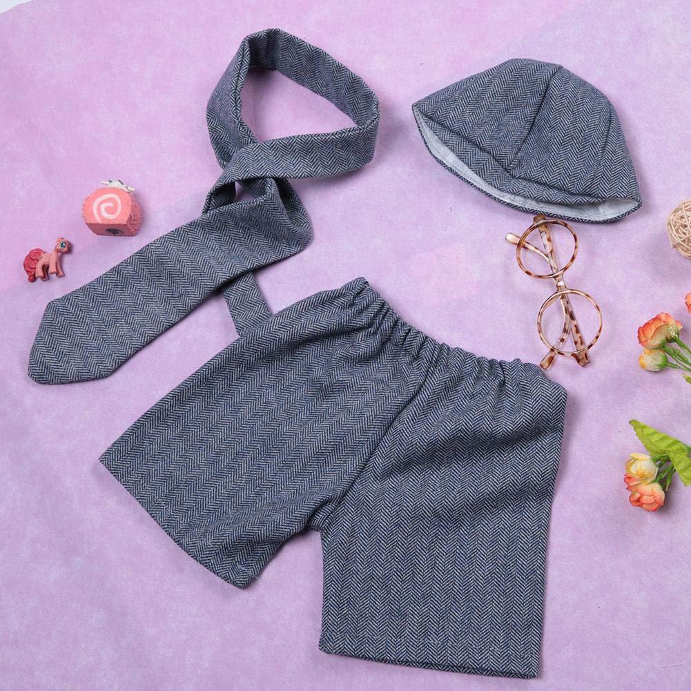 Bebé recién nacido Fotografía conjunto de ropa Sombrero Corbata ...