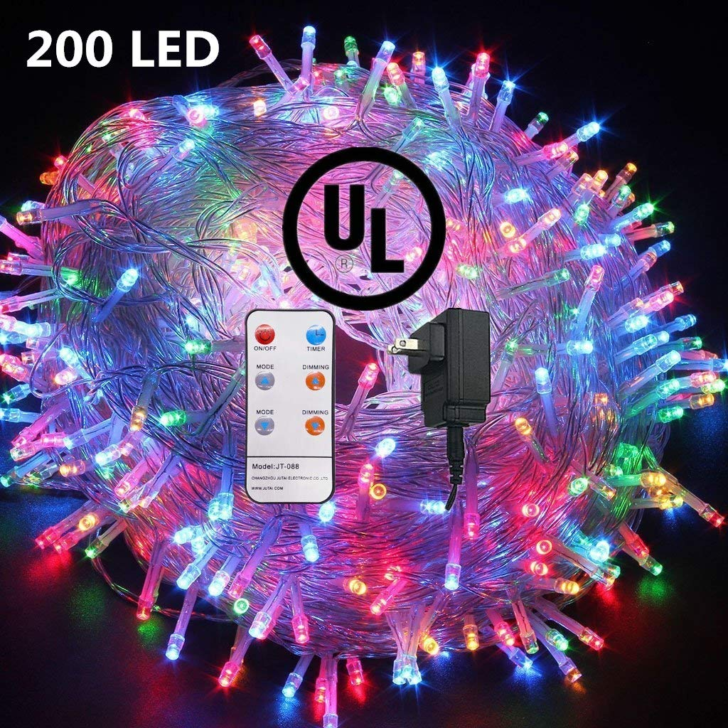 72 FT 200 LED Fairy Lights Plug in String Lights 8 Modes Twinkle Starry Light Waterproof Indoor Firefly String Light for Tree Wedding Party Bedroom Multi Color