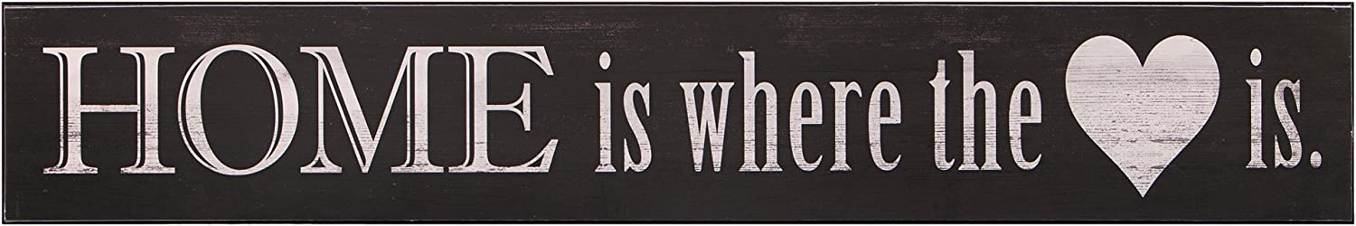 "Patton Wall Decor Home is Where The Heart is Wood Wall Art, 6"" x 36"""