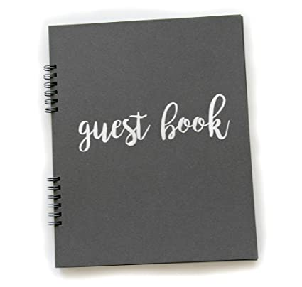 Amazoncom Photo Guest Book Flat Lay Spriral 65 Sheets 130pgs