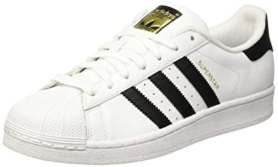 81bbfe2ee9173 Adidas Men's Adults' Superstar Trainers Style C77124 E Wht Blk 8.5 M US  White/