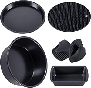 5 Set Non-Stick Bakeware Set Accesories Compatible with Ninja Foodi Pressure Cookers 5&6.5&8 qt
