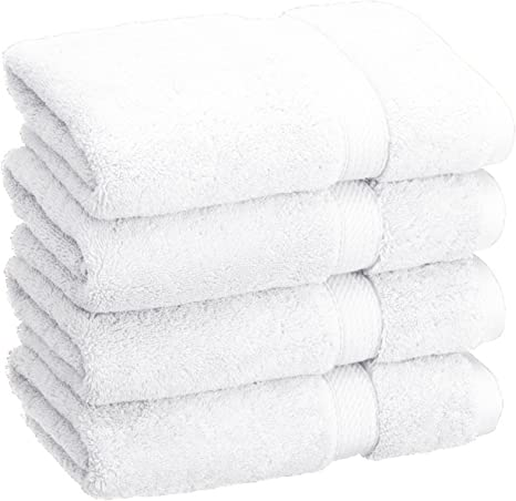 Superior Solid Egyptian Cotton 4 Piece Hand Towel Set Home Kitchen