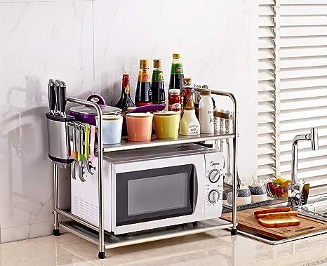 Estante para horno de microondas simple y práctico de acero ...