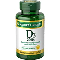 Vitamin D by Nature's Bounty for immune support. Vitamin D provides immune support and promotes healthy bones. 2000IU…