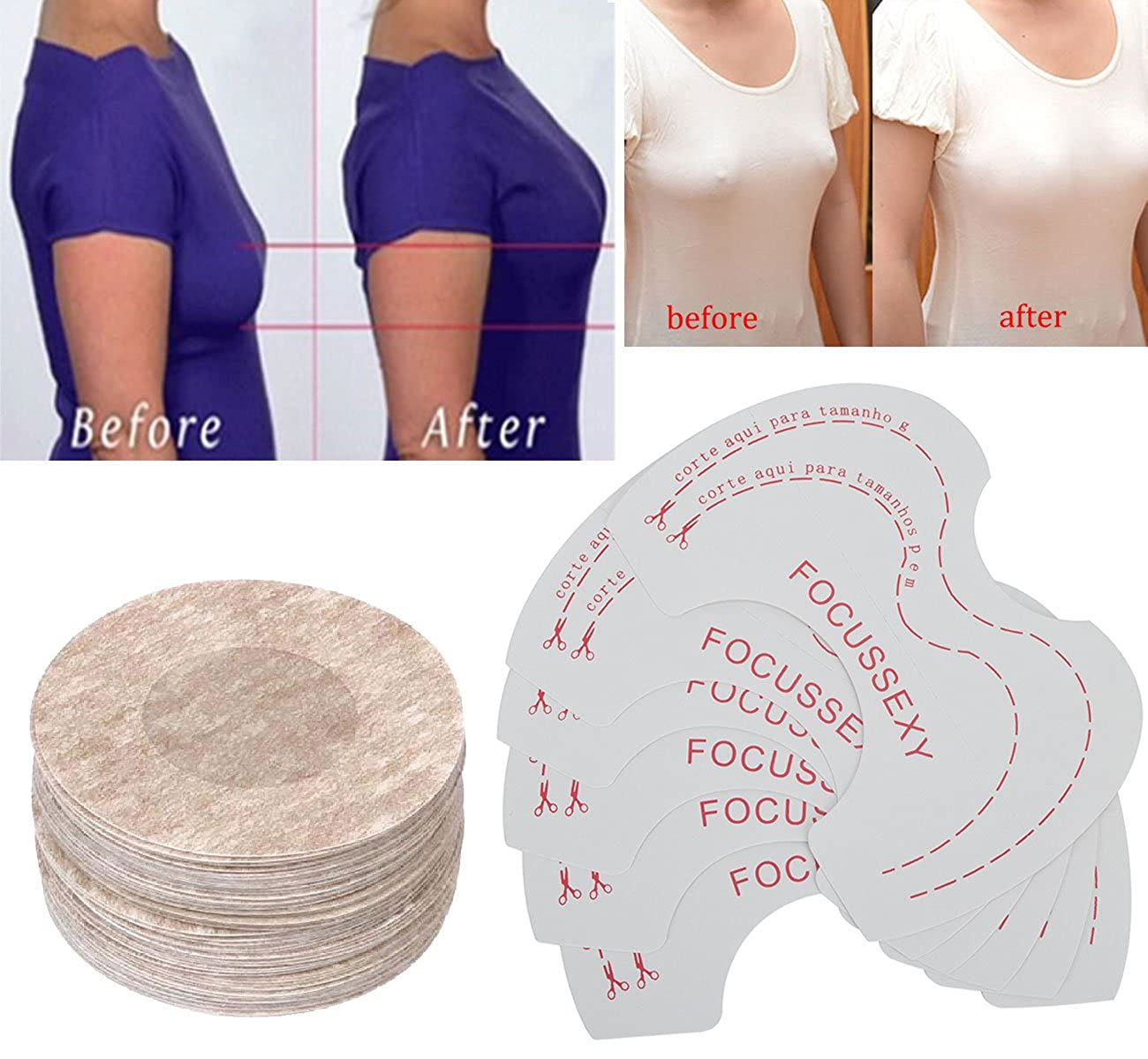 b691073d57 Careonline Adhesive Breast Lift and Nipple Covers Bra Boob Lift Bra  Uplifting Tape Disposable at Amazon Women s Clothing store