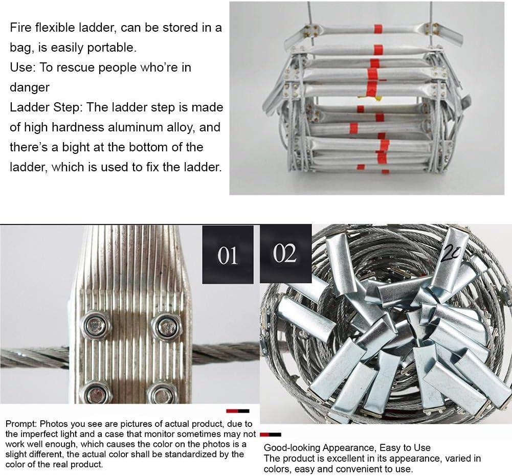 Quiet.T Escalera De Cuerda Escape De Fuego Escalera De Emergencia Escalera Retr/áctil Ingenier/ía Inicio Subida De Escaleras