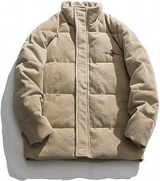 メンズコットンパッド入りジャケット、冬は厚手、暖かいカジュアルジャケット、寒さからのオールマッチプロテクション、ルーズパッド入りジャケット、