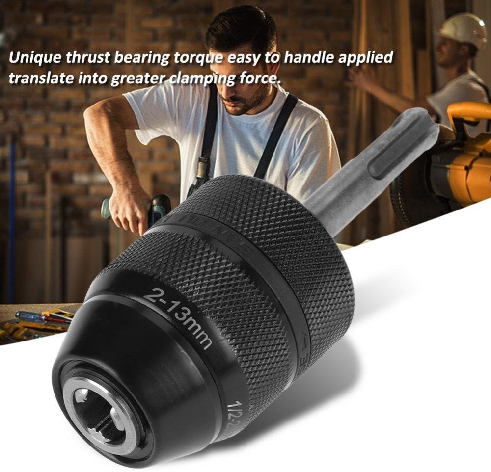 TOPINCN Capacidad Sin Claves Convertidor de Mandril de Taladro Metal Torno Chuck Converter con Accesorios SDS Adaptador 2-13mm