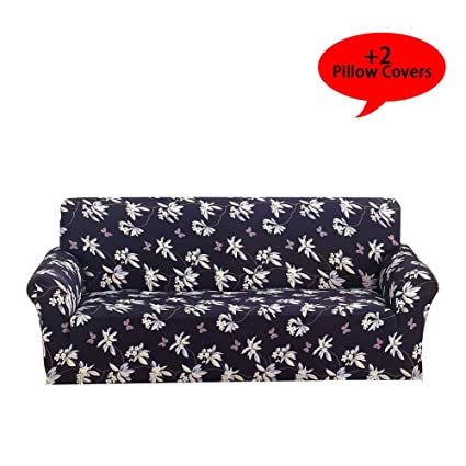 Enjoyable Aibixi Stretch Sofa Slipcover Printed Sofa Cover Spandex Fabric Couch Covers Stylish Furniture Shield Protector 54 70 Loveseat Butterfly Fly Andrewgaddart Wooden Chair Designs For Living Room Andrewgaddartcom