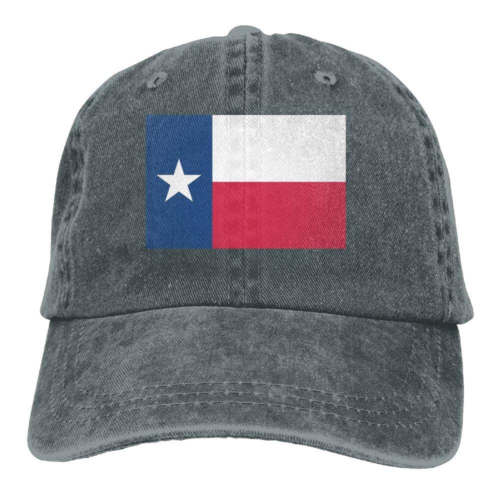 MASDUIH Flag Of Texas Denim Hat Baseball Caps Adjustable Plain Cap