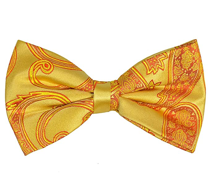da1ecd62dccc Image Unavailable. Image not available for. Color: Paul Malone Silk Bow Tie  Gold