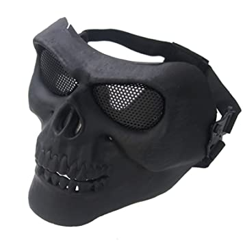 R.N.L Abaobao-Outdooors - Máscara de protección para Airsoft, diseño de Calaveras