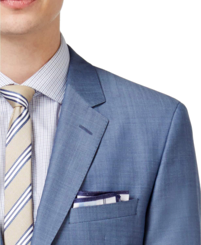 b2fa11ff0 Hugo Boss Slim Fit 2 Piece Men's 100% Virgin Wool Suit C-Jeffery/C-Simmons  Light Blue Textured