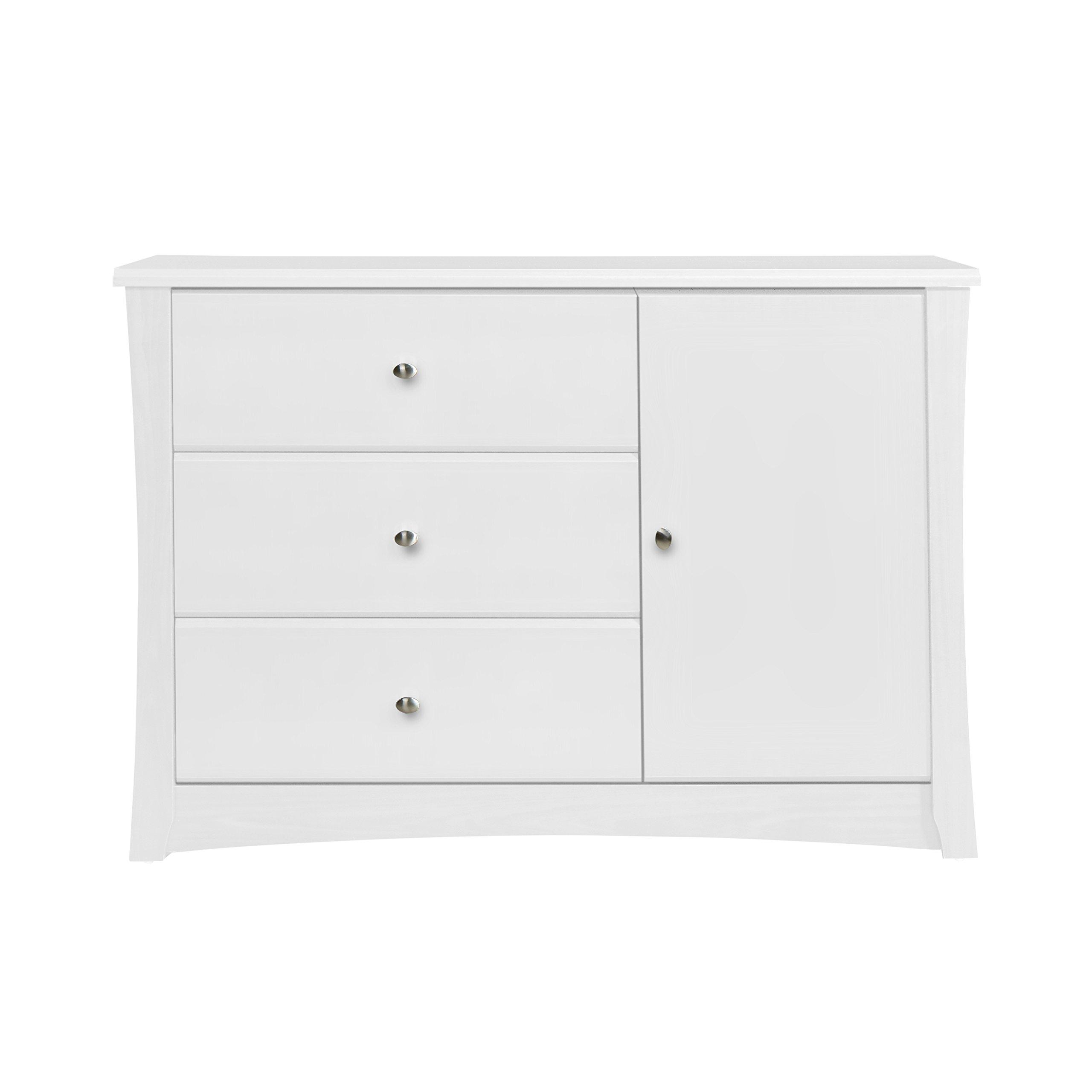 Storkcraft Crescent 3 Drawer Combo Dresser, White by Stork Craft (Image #4)