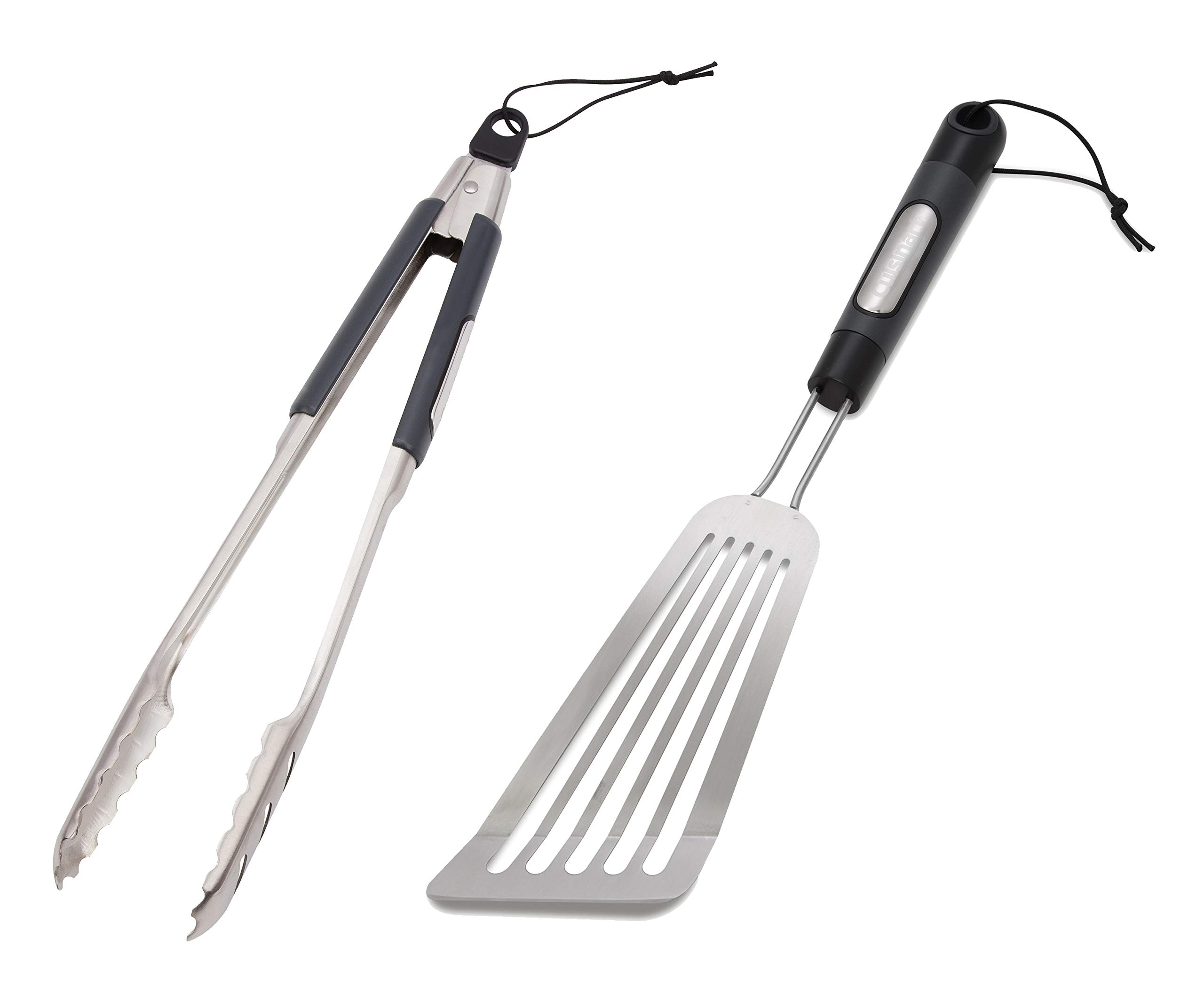 A.T. Products Corp. Cuisinart Grill Locking Tongs Bundle with Cuisinart Stainless Steel BBQ Fish Spatula by A.T. Products Corp.