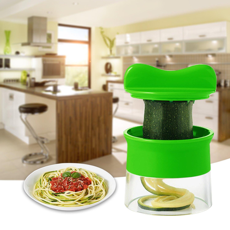 Uvistar cortador de verduras en espiral para calabacines, Zanahoria, pepino, patatas verde: Amazon.es: Hogar